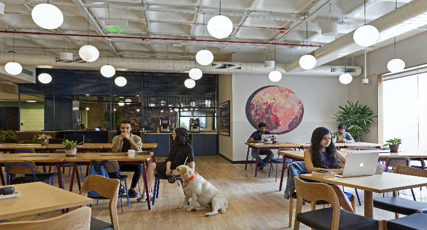Wework la fayette co working space gives nod to the s design
