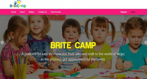 Brite Camp A Platform for Kids to Showcase and Sell Their Arts and Craft