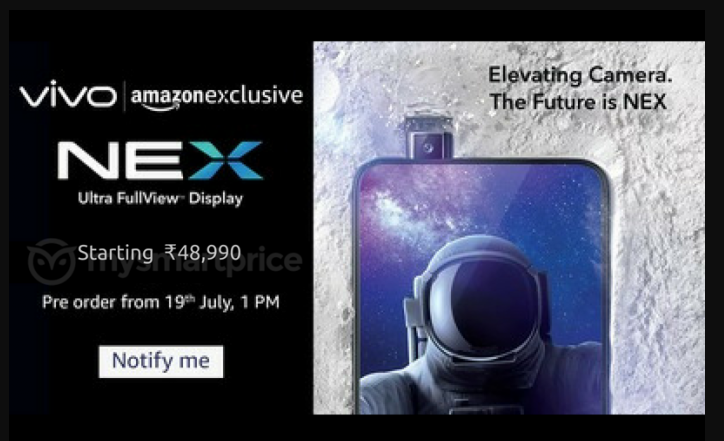 Vivo Nex S price leaked, may launch in India at Rs 48,990