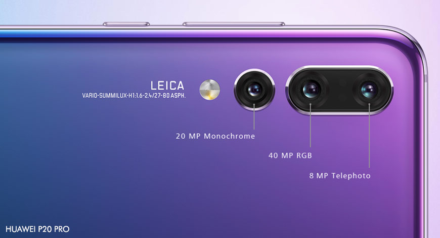 Huawei launches world's first triple-camera smartphone