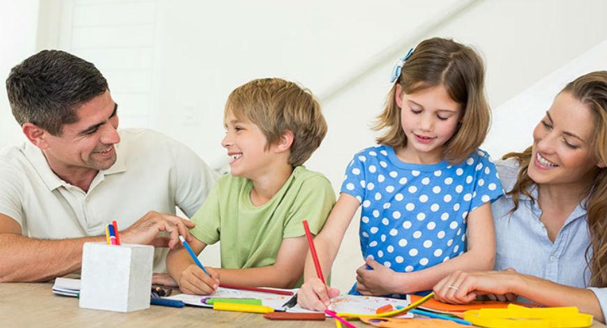 school homework with parents