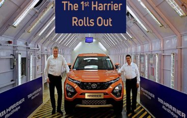 The 1st Tata Harrier Rolls Out From Its All-New Assembly Line in Pune